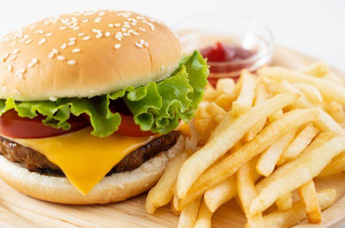 ハンバーガー ポテト