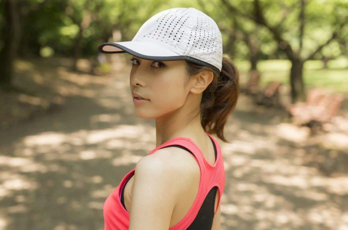 メッシュ素材 ランニング 帽子