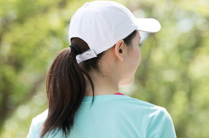 白系 帽子 熱中症対策 ランニング
