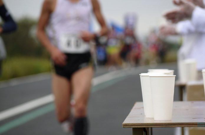 マラソンの給水