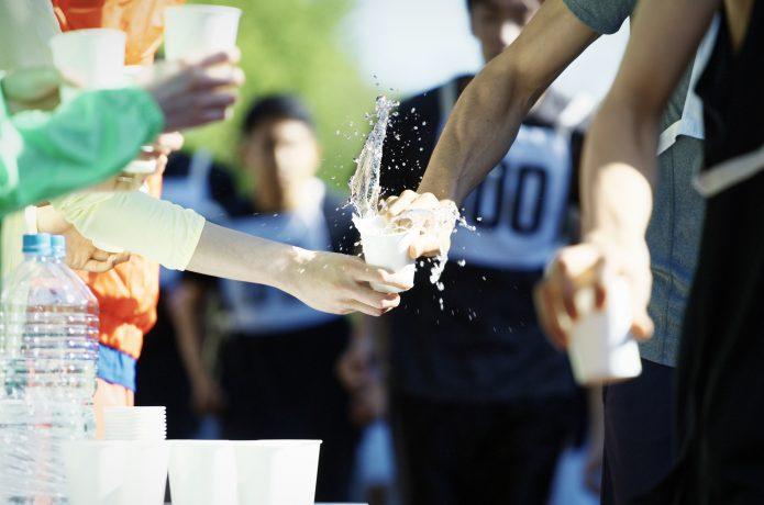 給水所 マラソン