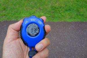マラソンのタイム計測