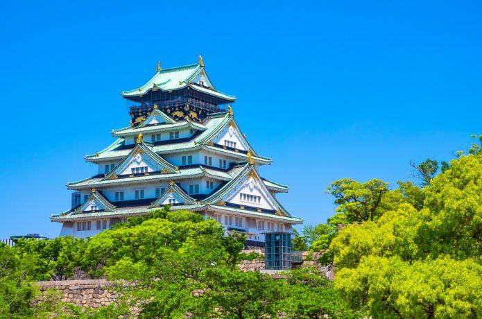 大阪城の天守閣