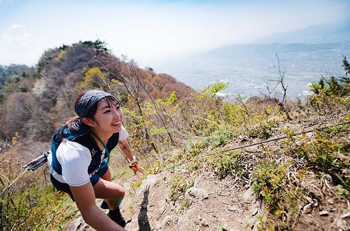 シンドくても楽しそうに登るイメージ