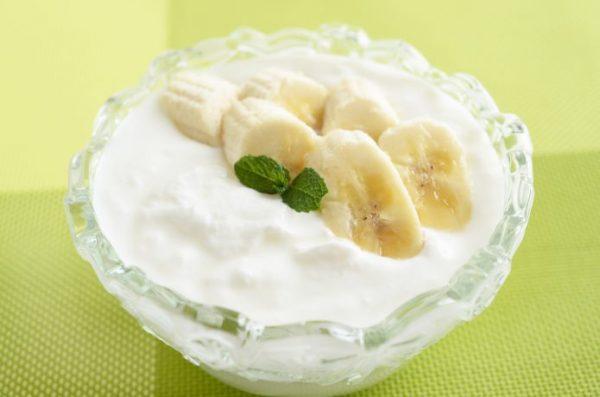 朝食 バナナ ヨーグルト