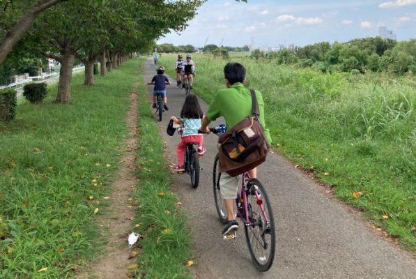 多摩川 自転車 狭い