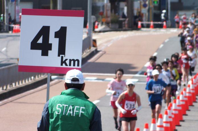 マラソンのラスト1km