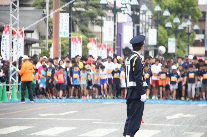 マラソンのスタート地点