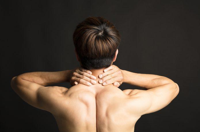 筋肉の凝りとほぐしたい様子