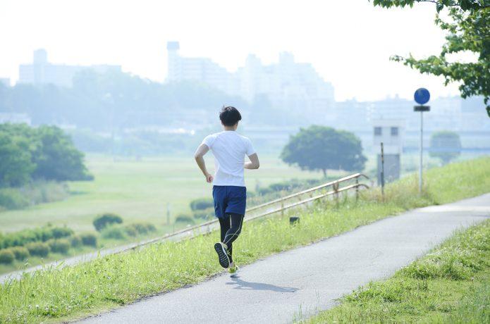 ロング走をする男性
