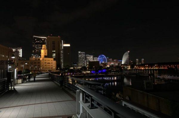 帰宅ランニング 夜景 横浜
