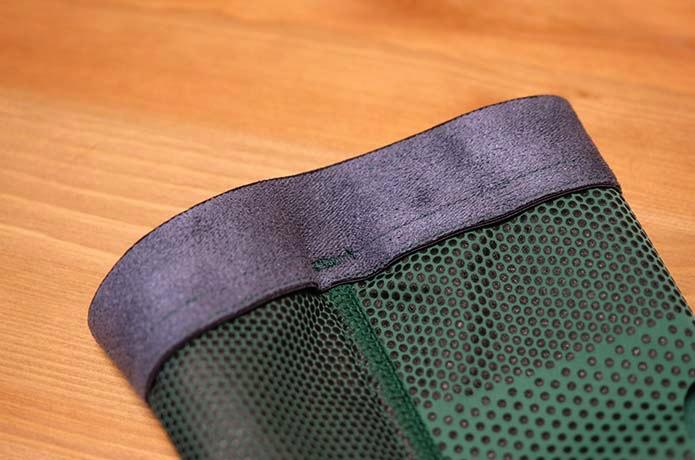 プロフィッツ ひざサポーターの履き口部分