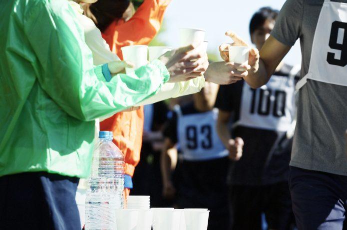 マラソン給水