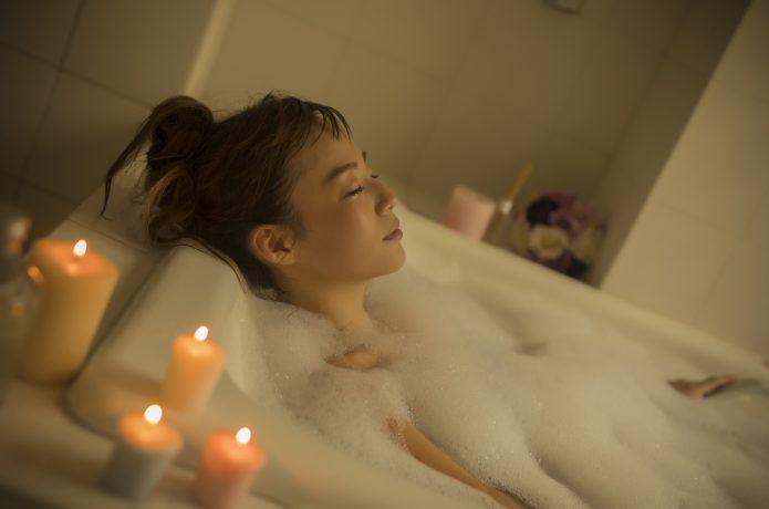 入浴で疲労回復のイメージ